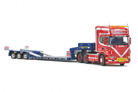 "IMC Scania 4 Series Topline 6x4 Goldhofer 3 axle lowloader ""Give"" ""Carsten Hansen"""